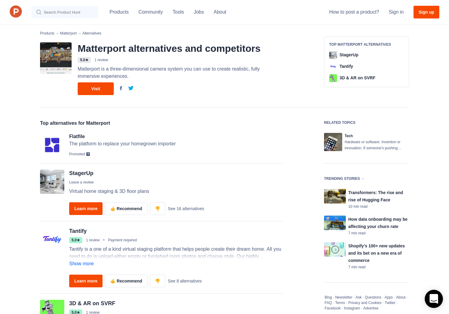 2 Alternatives to Matterport | Product Hunt