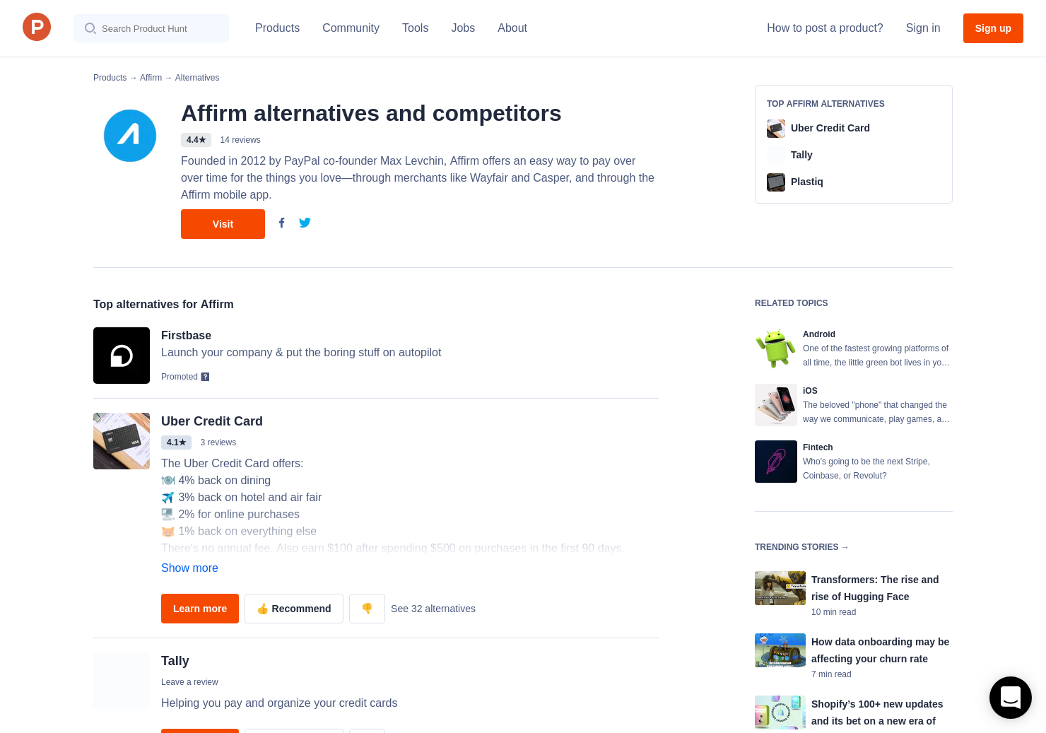 4 Alternatives to Affirm for Android, iPhone | Product Hunt