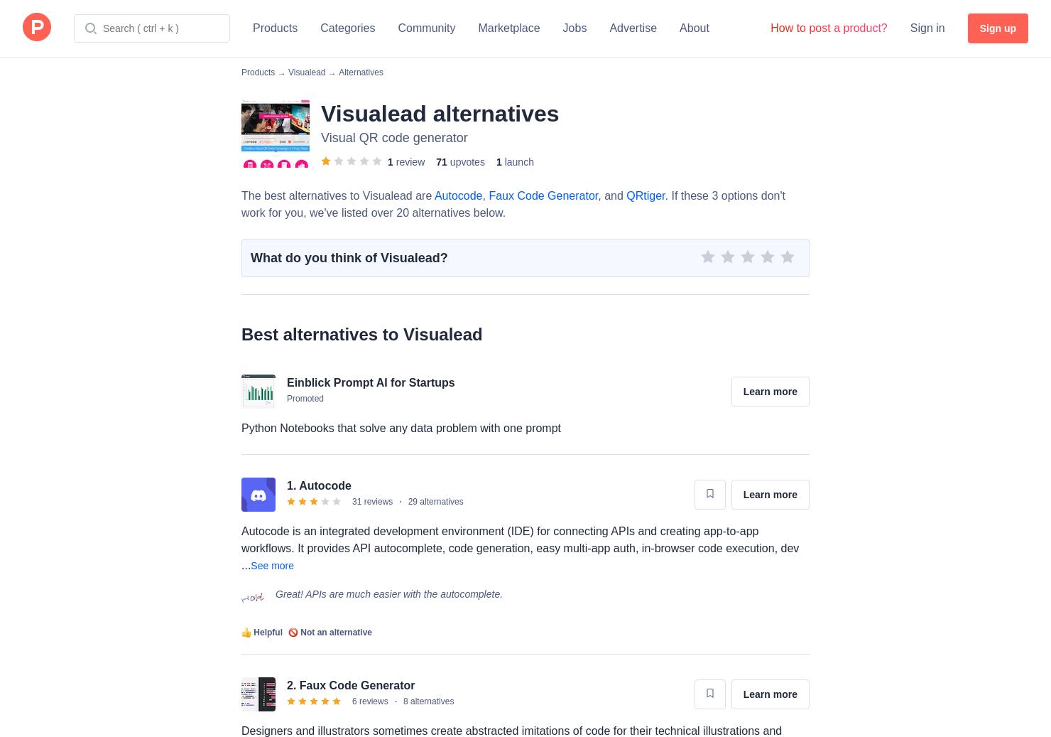 10 Alternatives to Visualead | Product Hunt