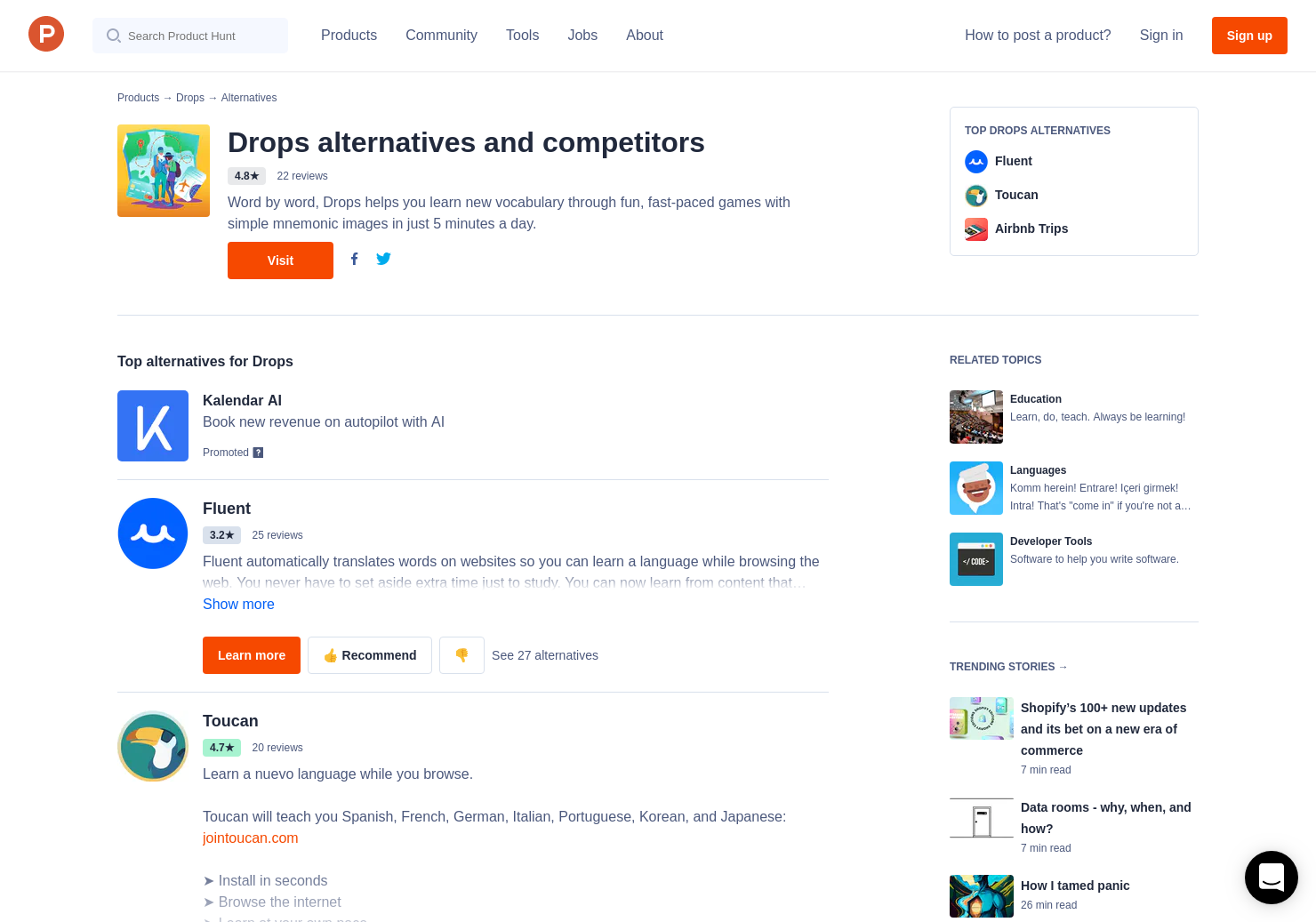 31 Alternatives to Language Drops | Product Hunt
