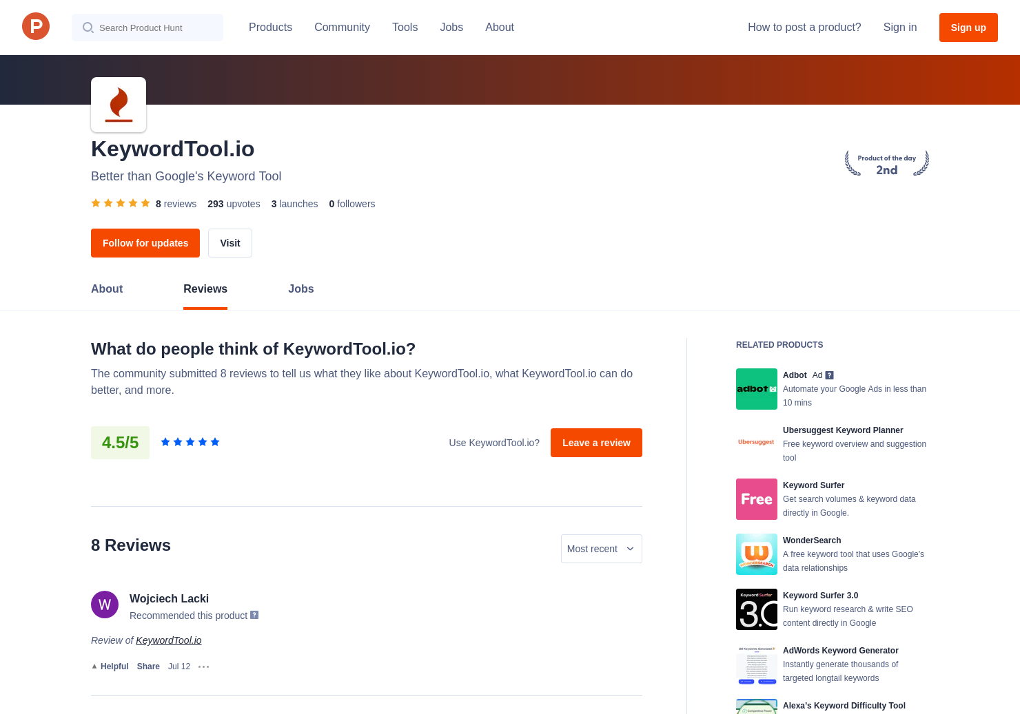 3 KeywordTool io Reviews - Pros, Cons and Rating | Product Hunt