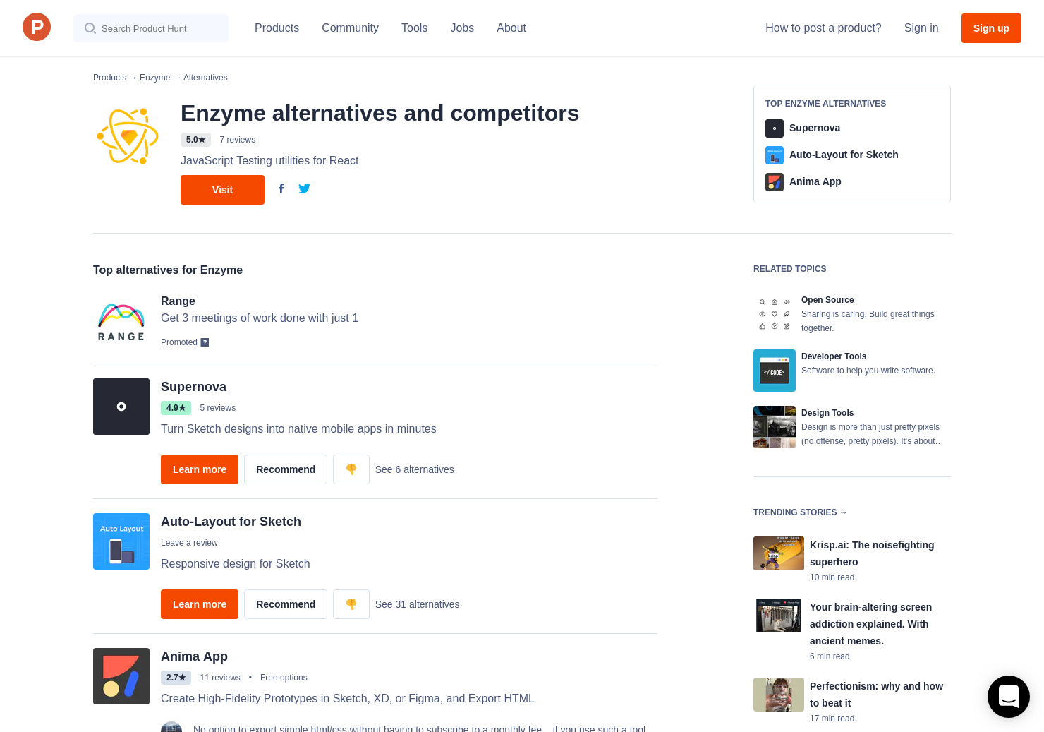 15 Alternatives to Airbnb React Sketch app | Product Hunt