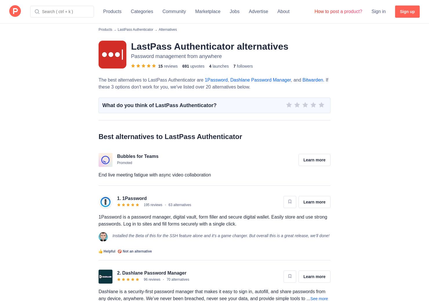 21 Alternatives to LastPass   Product Hunt