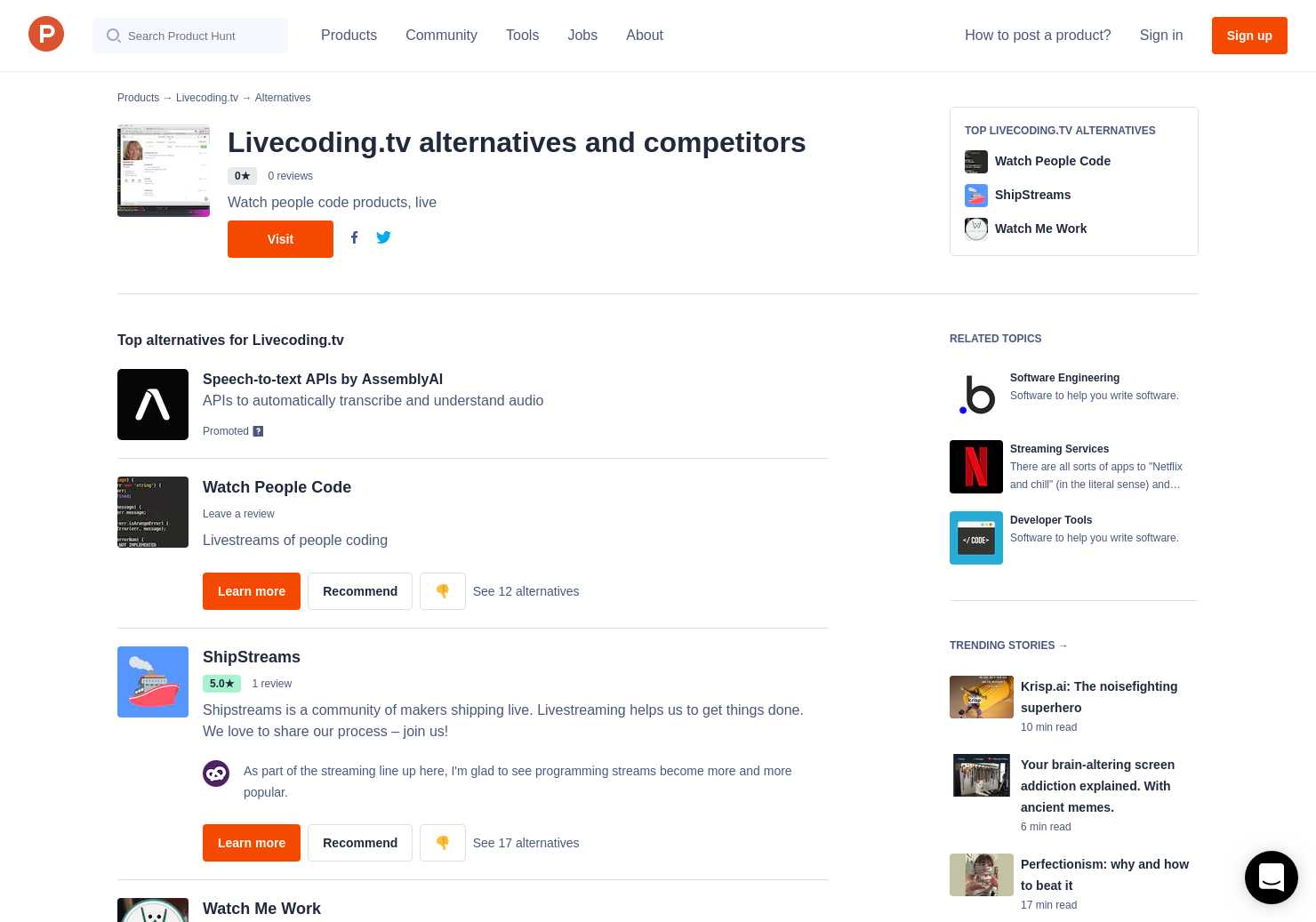 4 Alternatives to Livecoding tv   Product Hunt