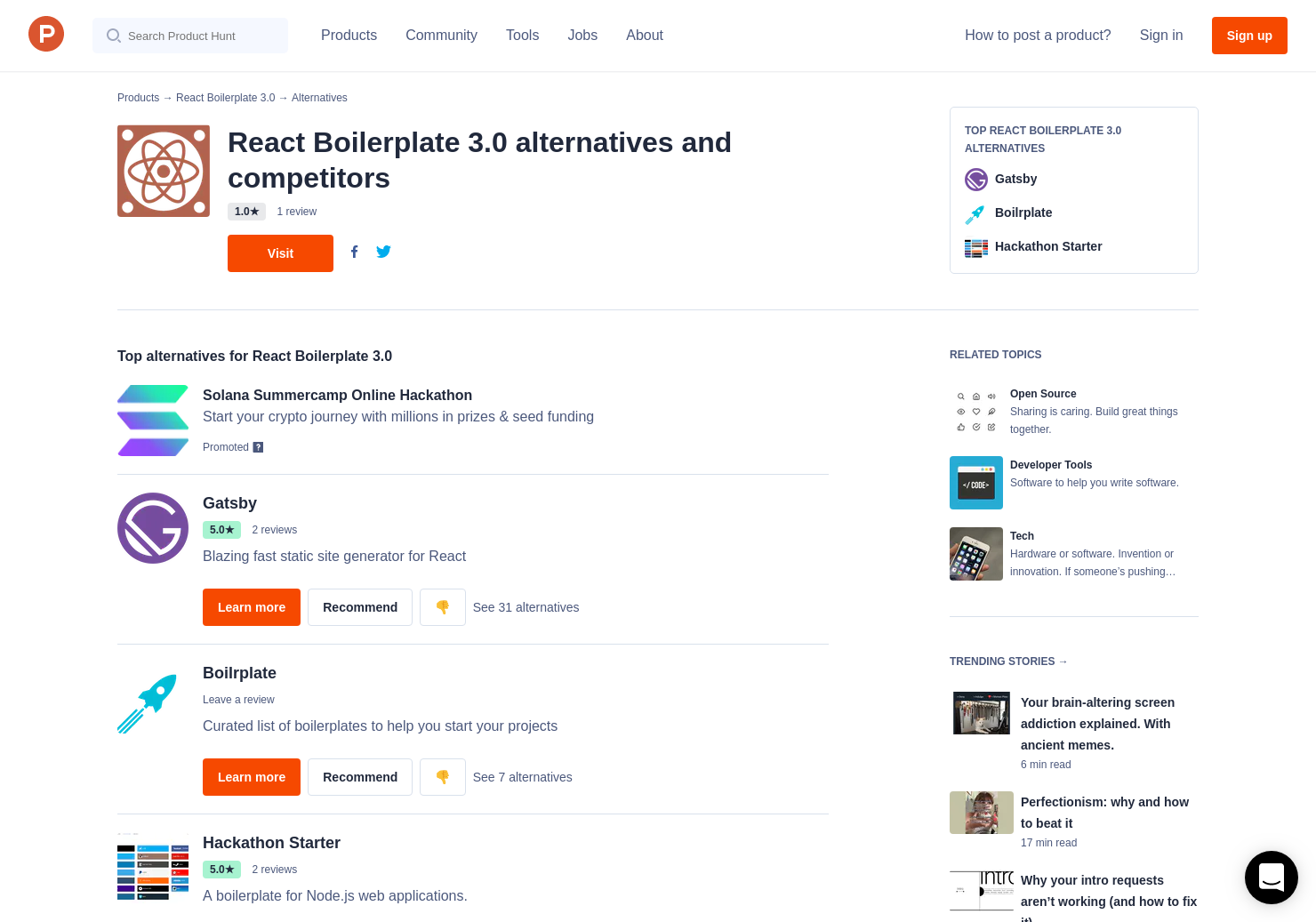 19 Alternatives to React Boilerplate 3 0 | Product Hunt