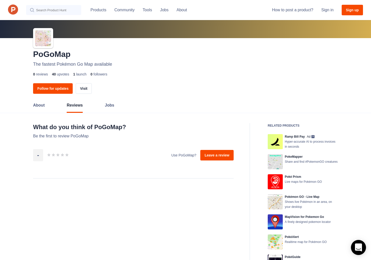 PoGoMap Reviews - Pros, Cons and Rating   Product Hunt