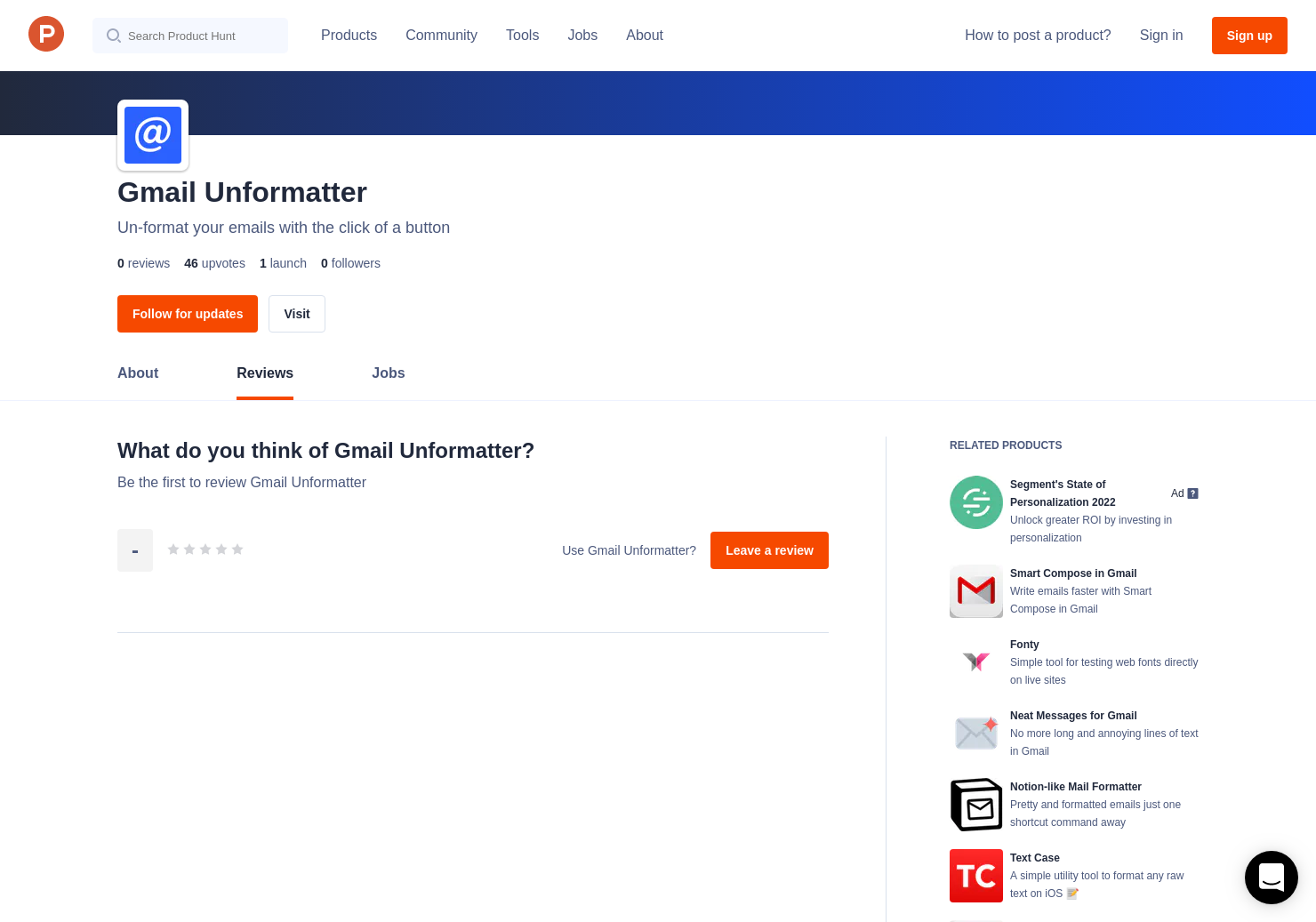 Gmail Unformatter Reviews - Pros, Cons and Rating | Product Hunt