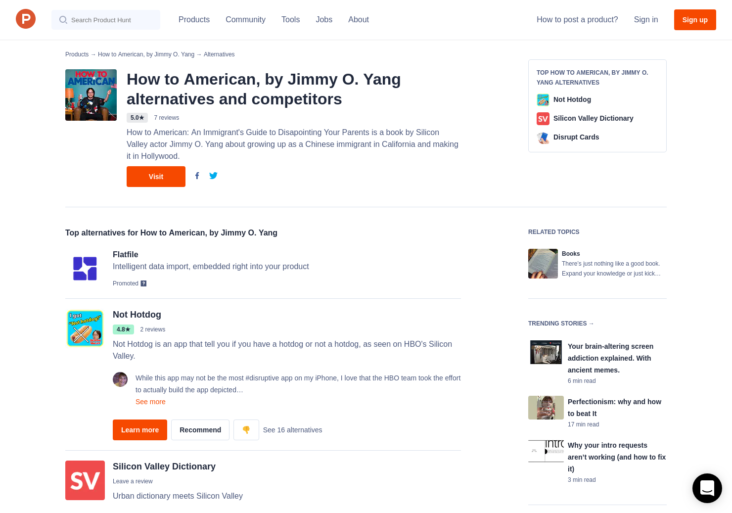 5 Alternatives To How To American By Jimmy O Yang Product Hunt