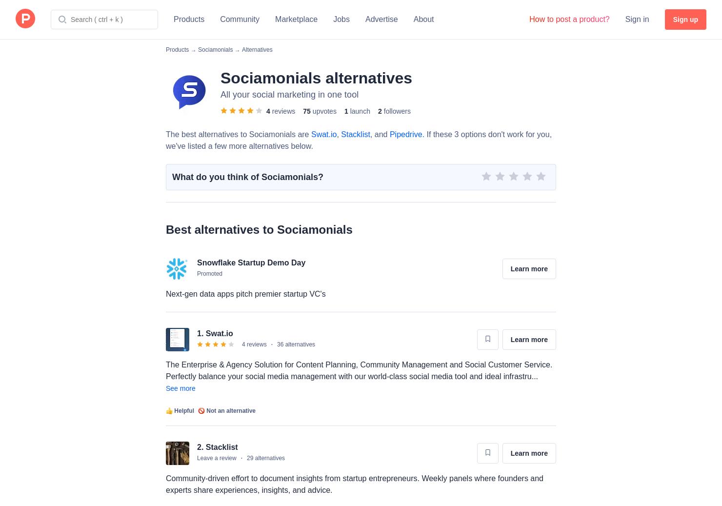 6 Alternatives to Sociamonials   Product Hunt