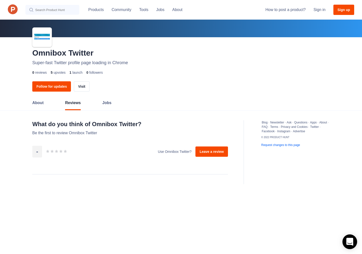 Omnibox Twitter Reviews - Pros, Cons and Rating | Product Hunt