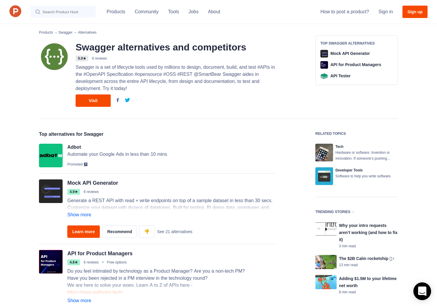 6 Alternatives to Swagger Inspector   Product Hunt