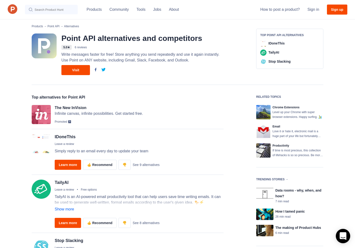 4 Alternatives to Point: AI email snippets for Gmail for