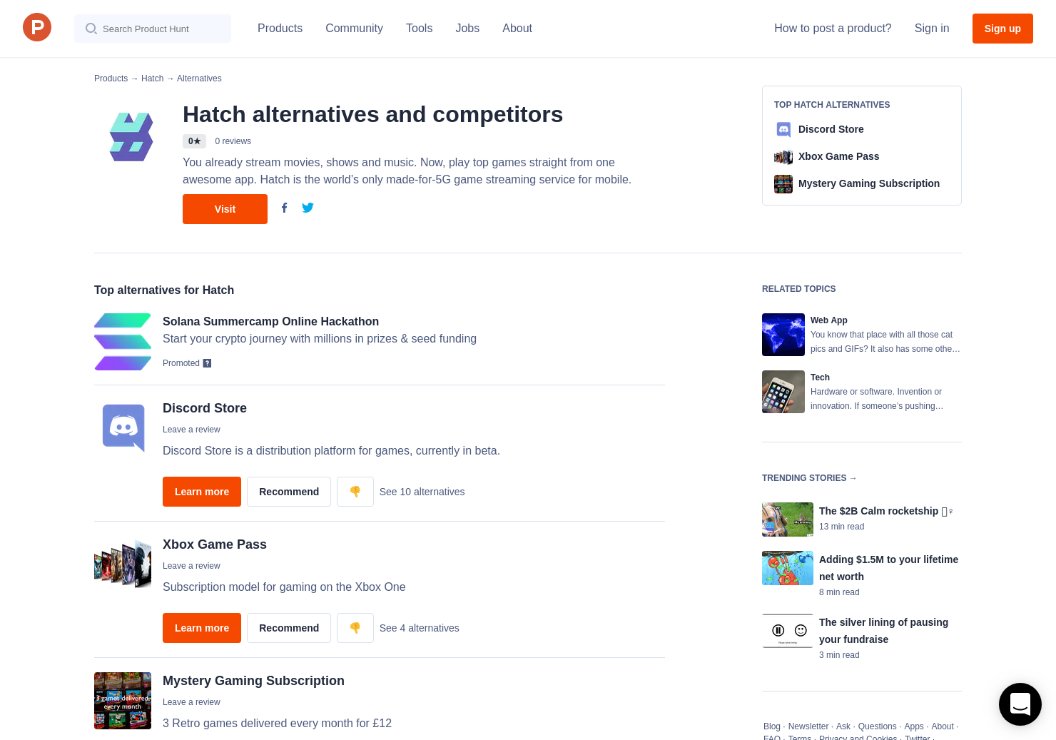4 Alternatives to Hatch   Product Hunt
