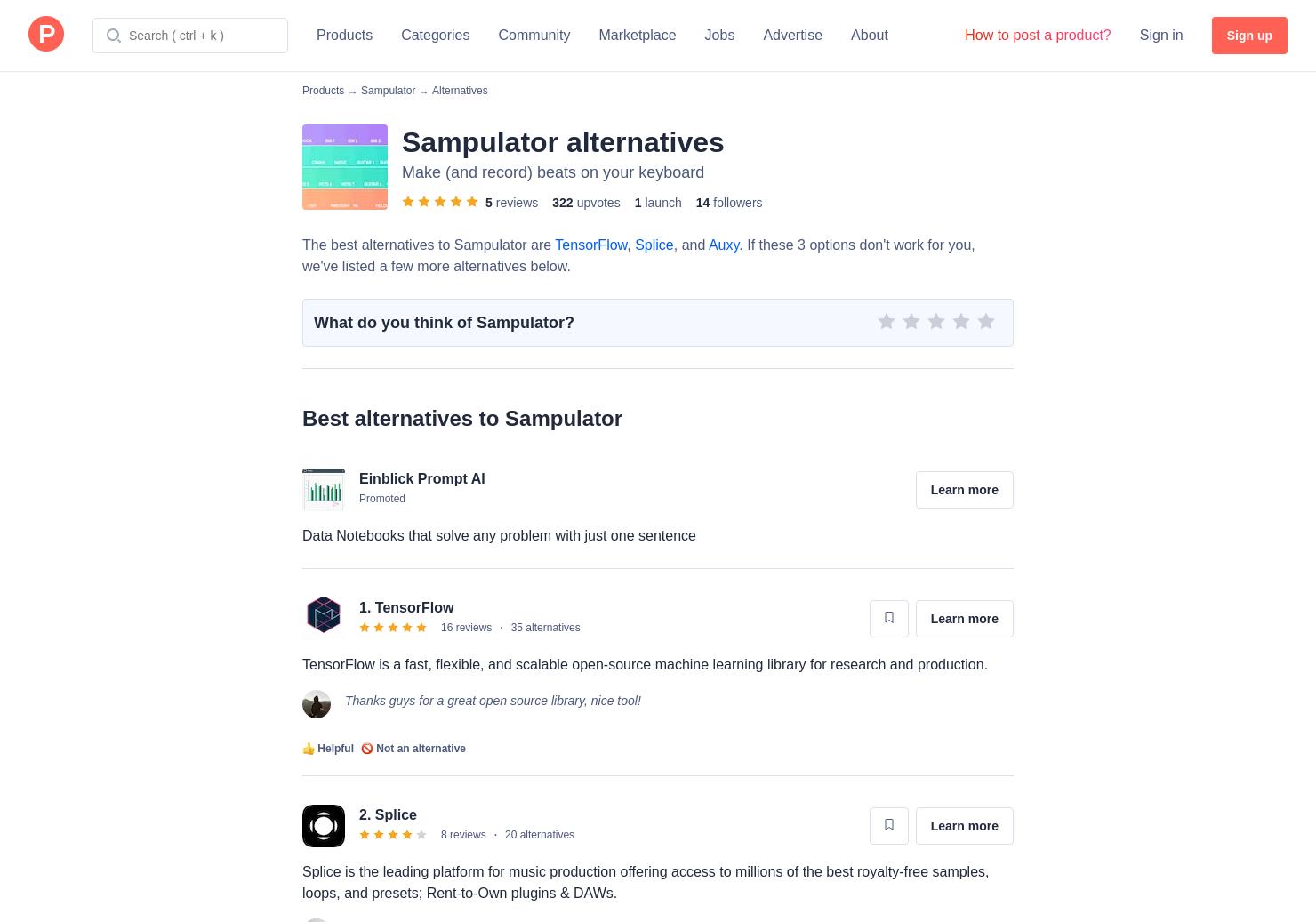 20 Alternatives to Sampulator | Product Hunt