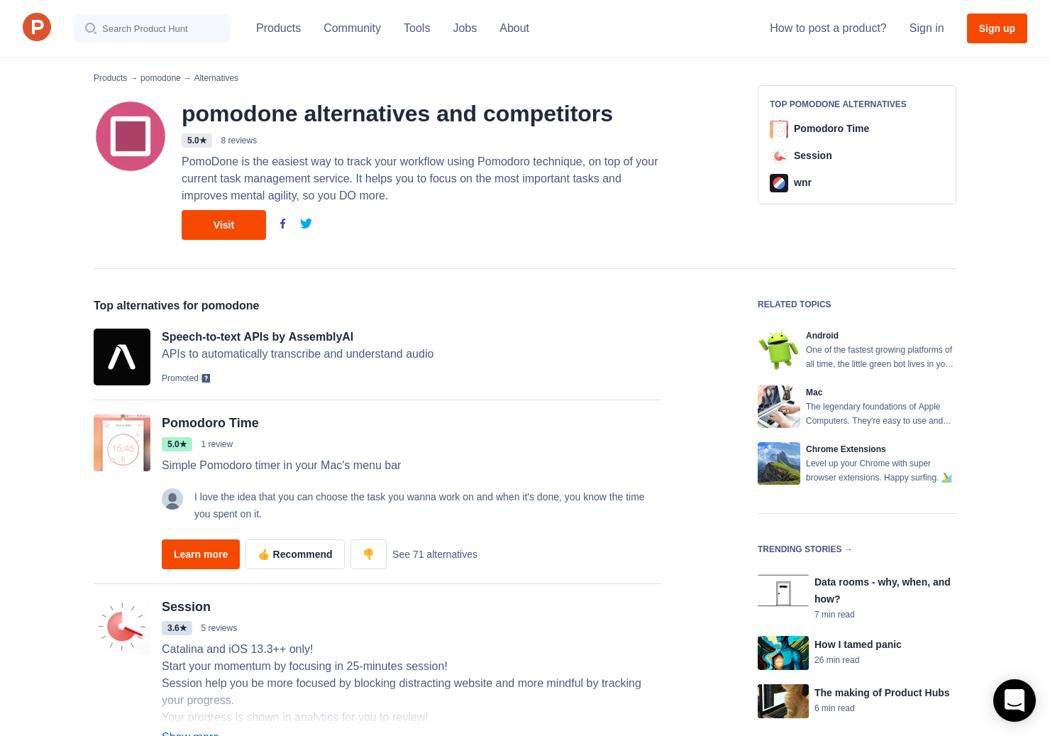 11 Alternatives to PomoDoneApp for Mac, Windows, Linux