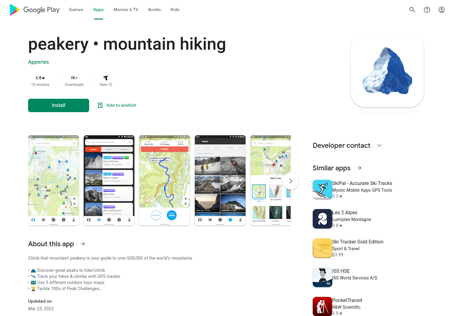 peakery for Android