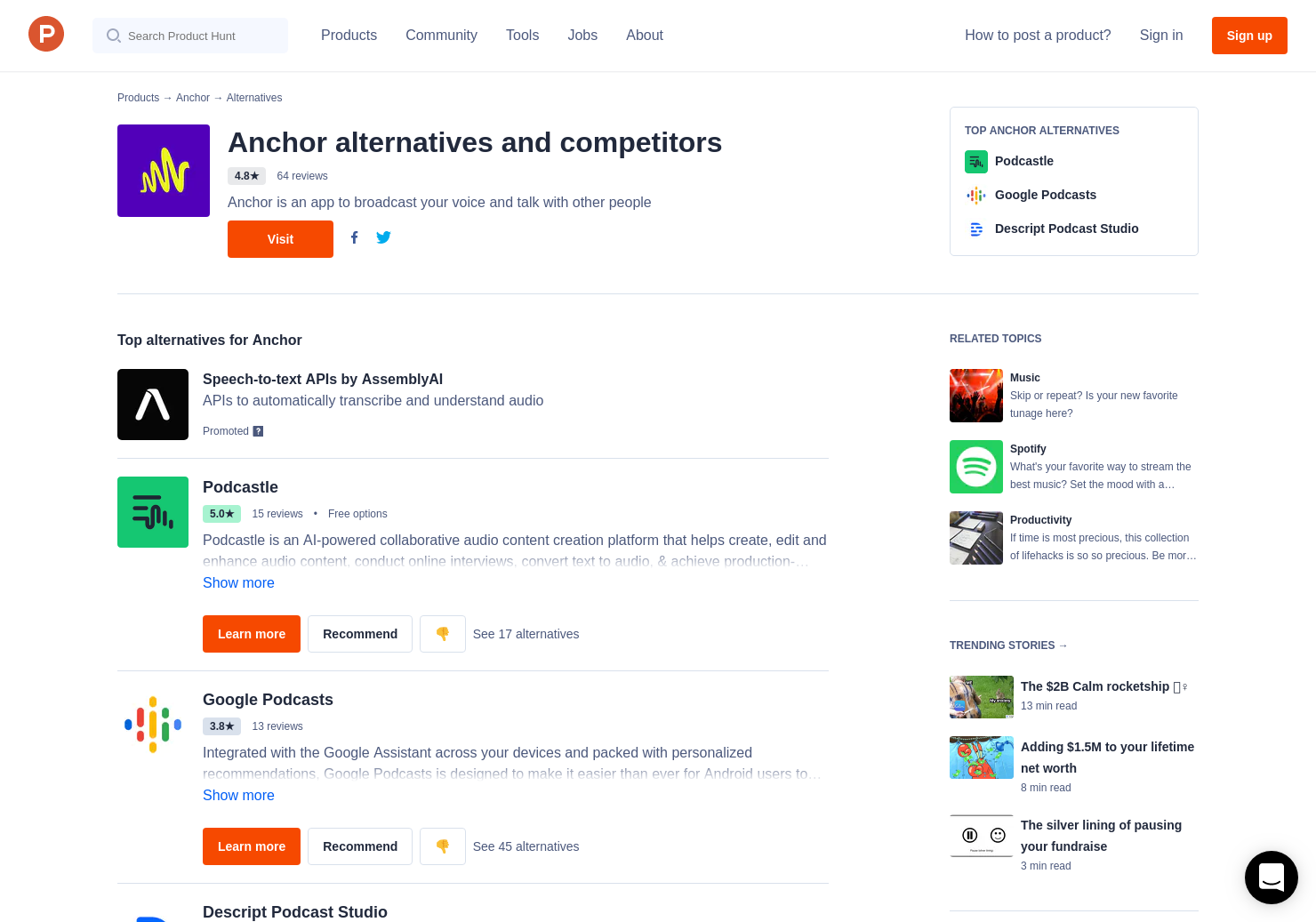 16 Alternatives to Anchor 2 0 for Android, iPhone | Product Hunt