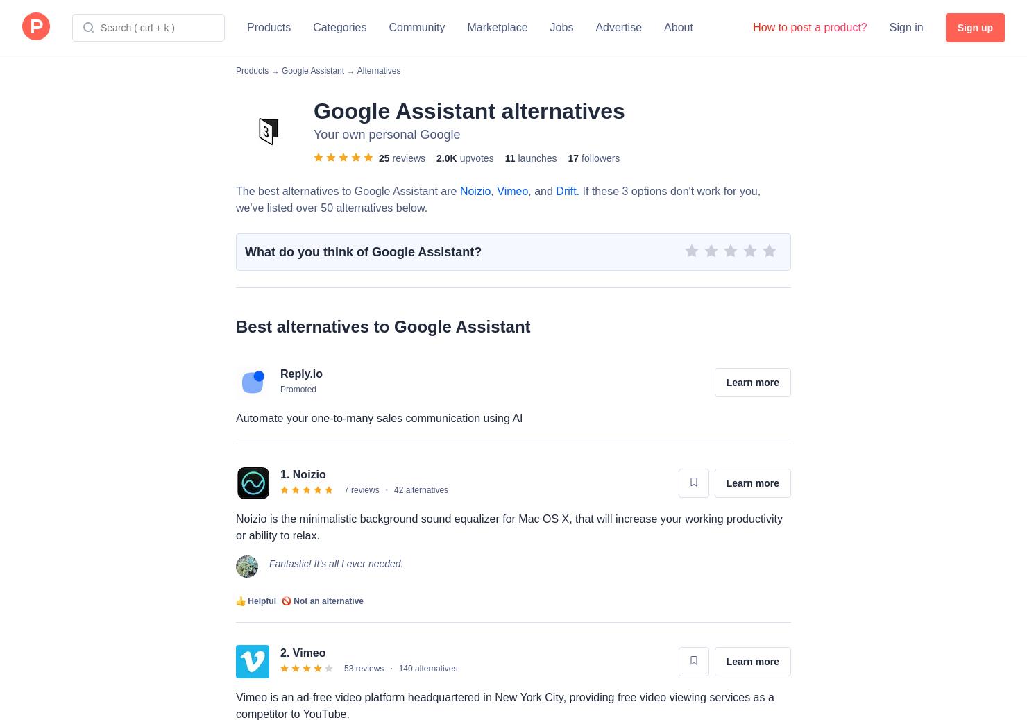 5 Alternatives to Hey Google, Tell Me Something Good | Product Hunt