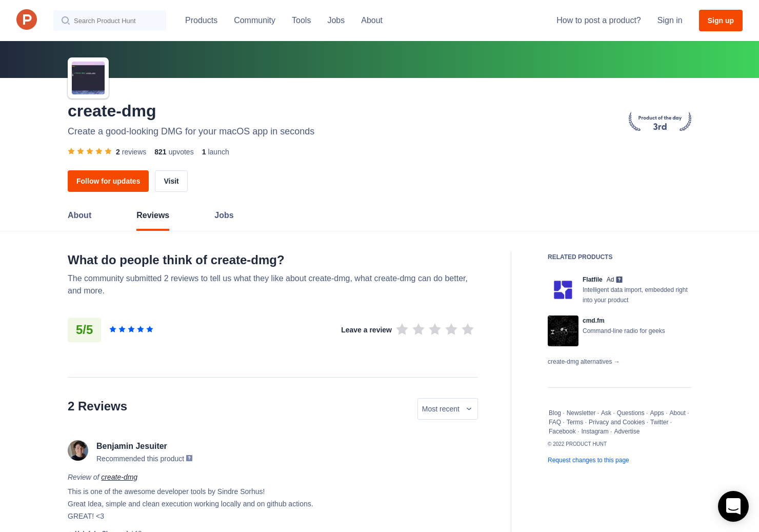 1 create-dmg Reviews - Pros, Cons and Rating | Product Hunt