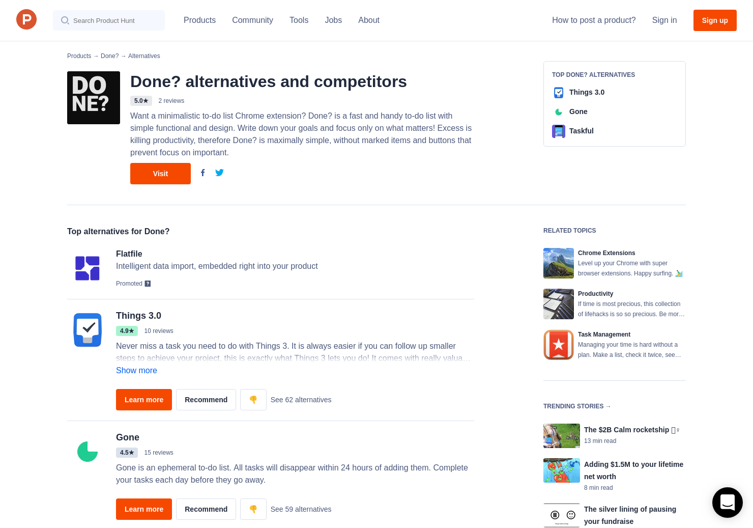 21 Alternatives to Done? for Chrome Extensions | Product Hunt