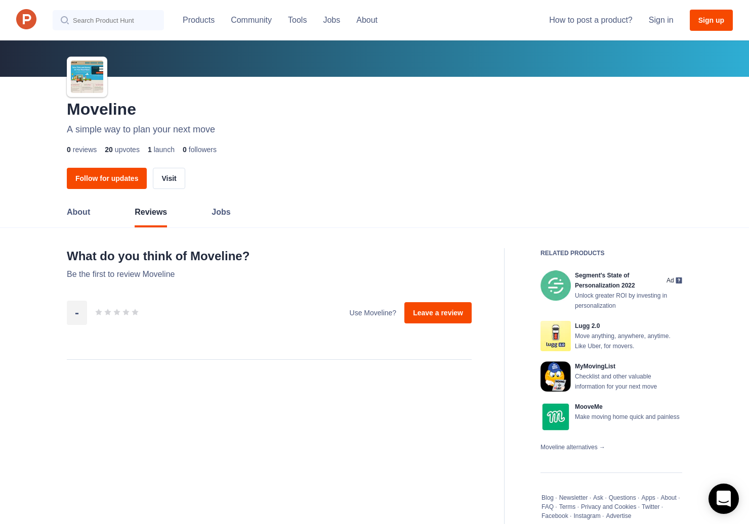Moveline Reviews - Pros, Cons and Rating | Product Hunt
