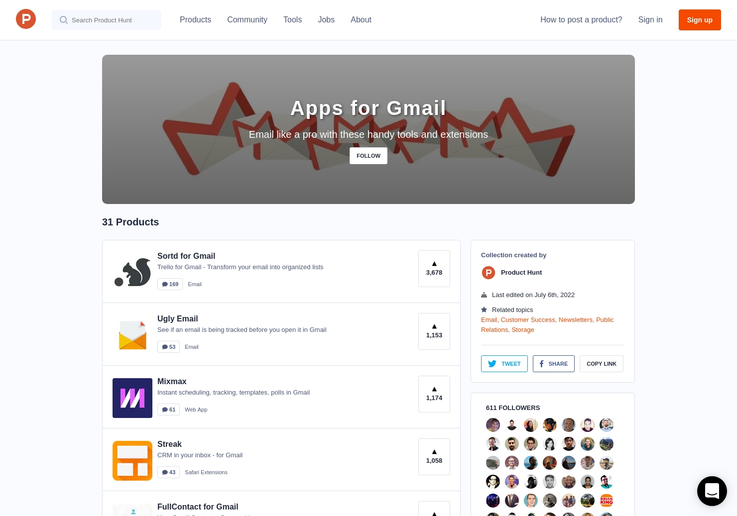 Apps for Gmail | Product Hunt