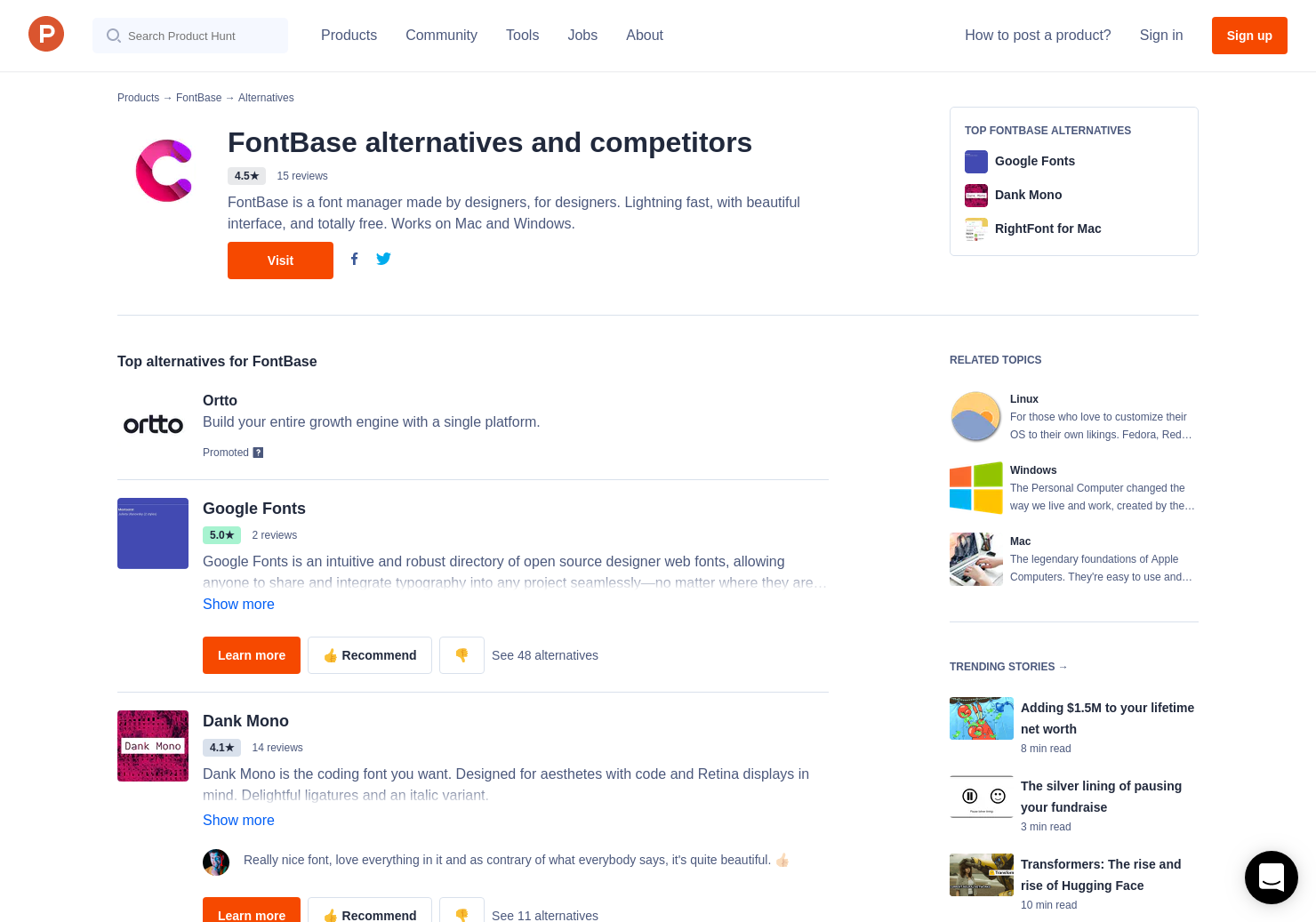 17 Alternatives to FontBase 2 0 for Linux, Windows, Mac