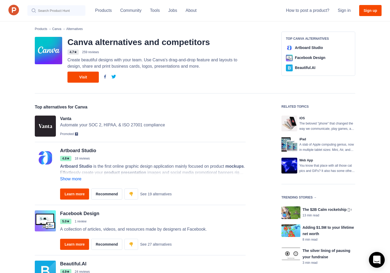 8 Alternatives To Canva Color Wiki Product Hunt