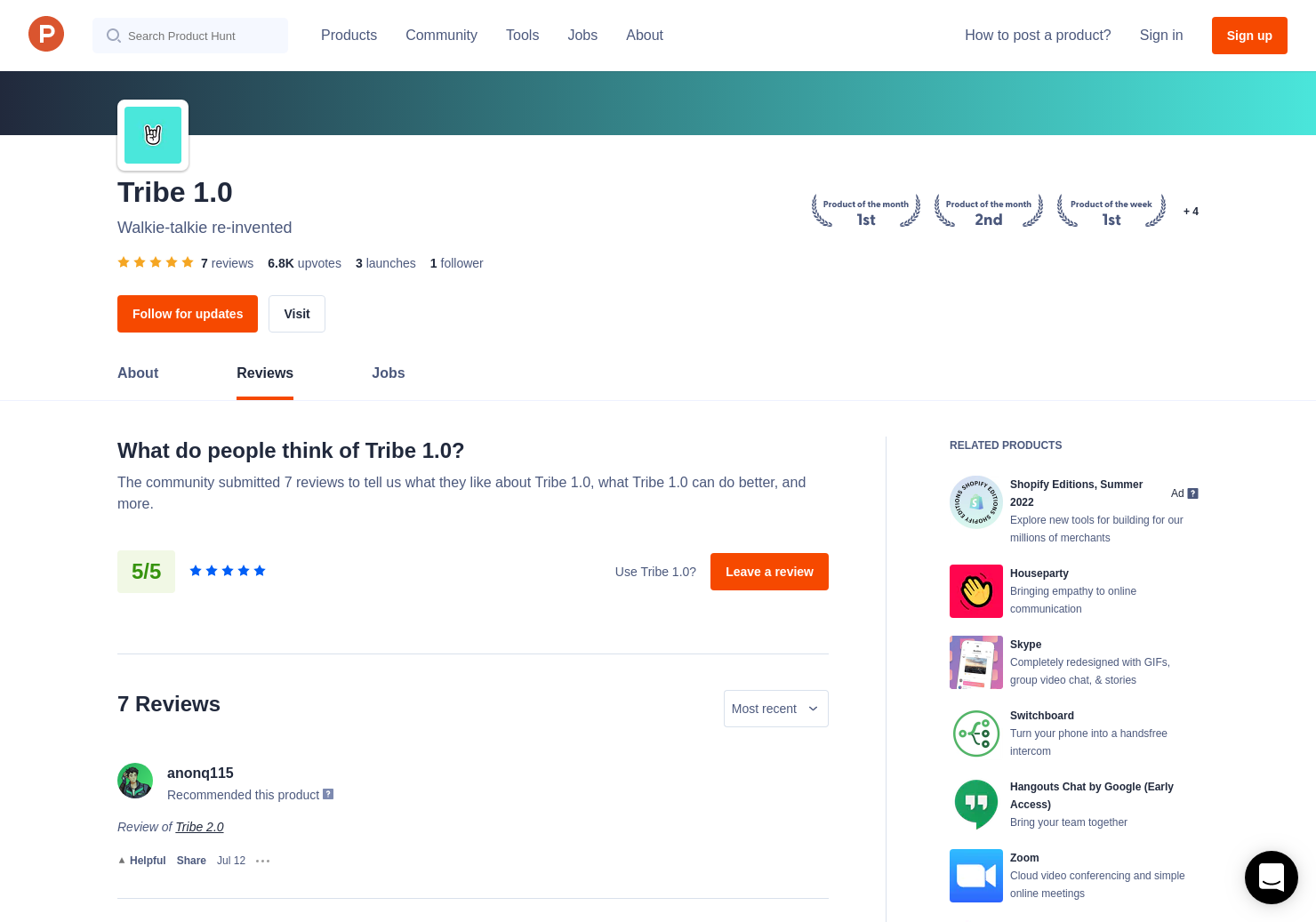 1 Tribe 1 0 Reviews - Pros, Cons and Rating | Product Hunt