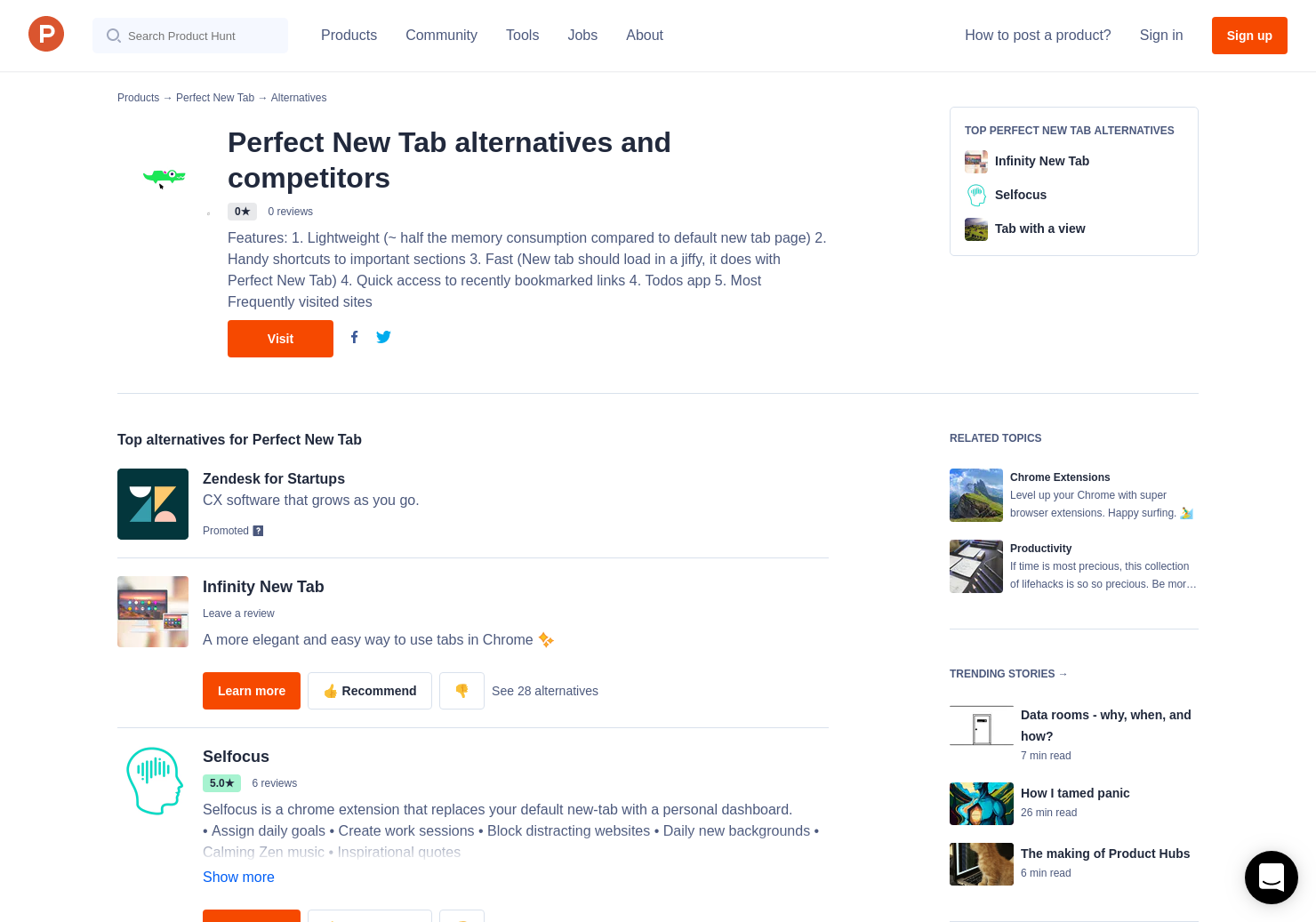 11 Alternatives to Perfect New Tab for Chrome Extensions | Product Hunt