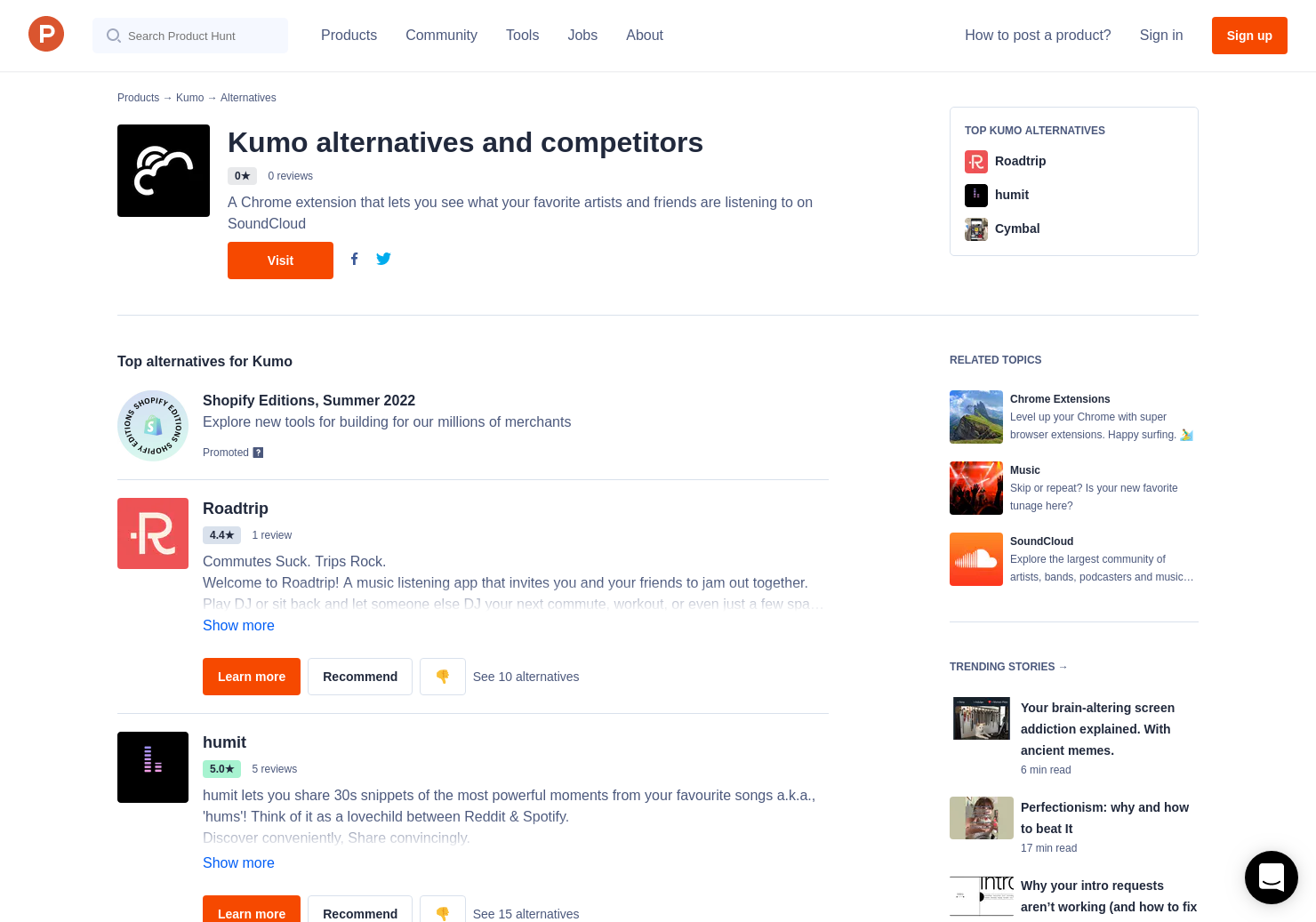 5 Alternatives to Kumo for Chrome Extensions | Product Hunt