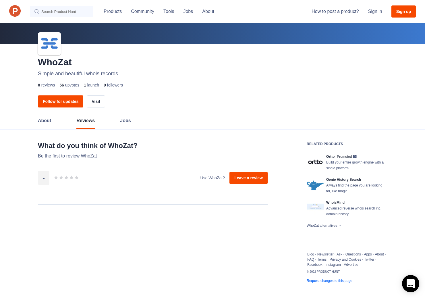 WhoZat Reviews - Pros, Cons and Rating Product Hunt