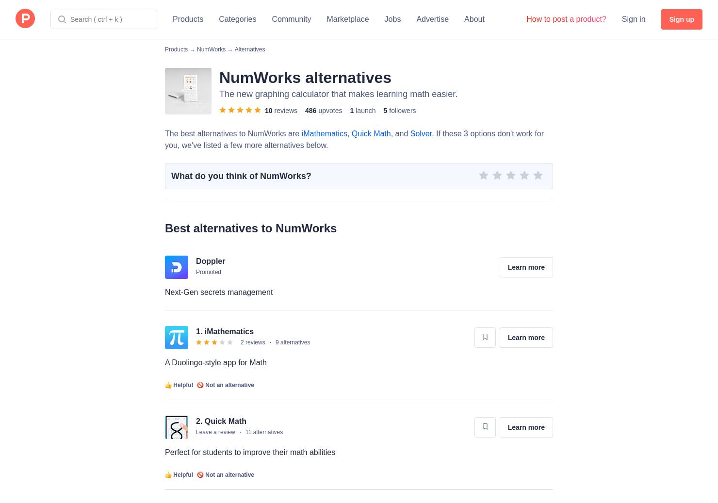 5 Alternatives to NumWorks - Product Hunt