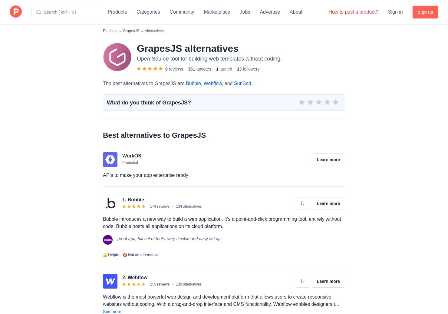 4 Alternatives to GrapesJS | Product Hunt