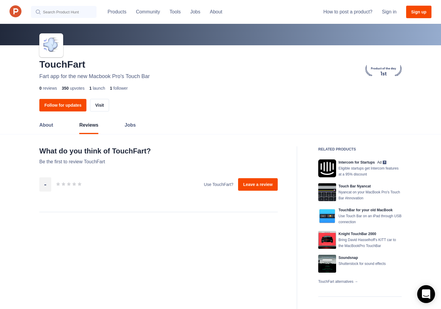 TouchFart Reviews - Pros, Cons and Rating | Product Hunt