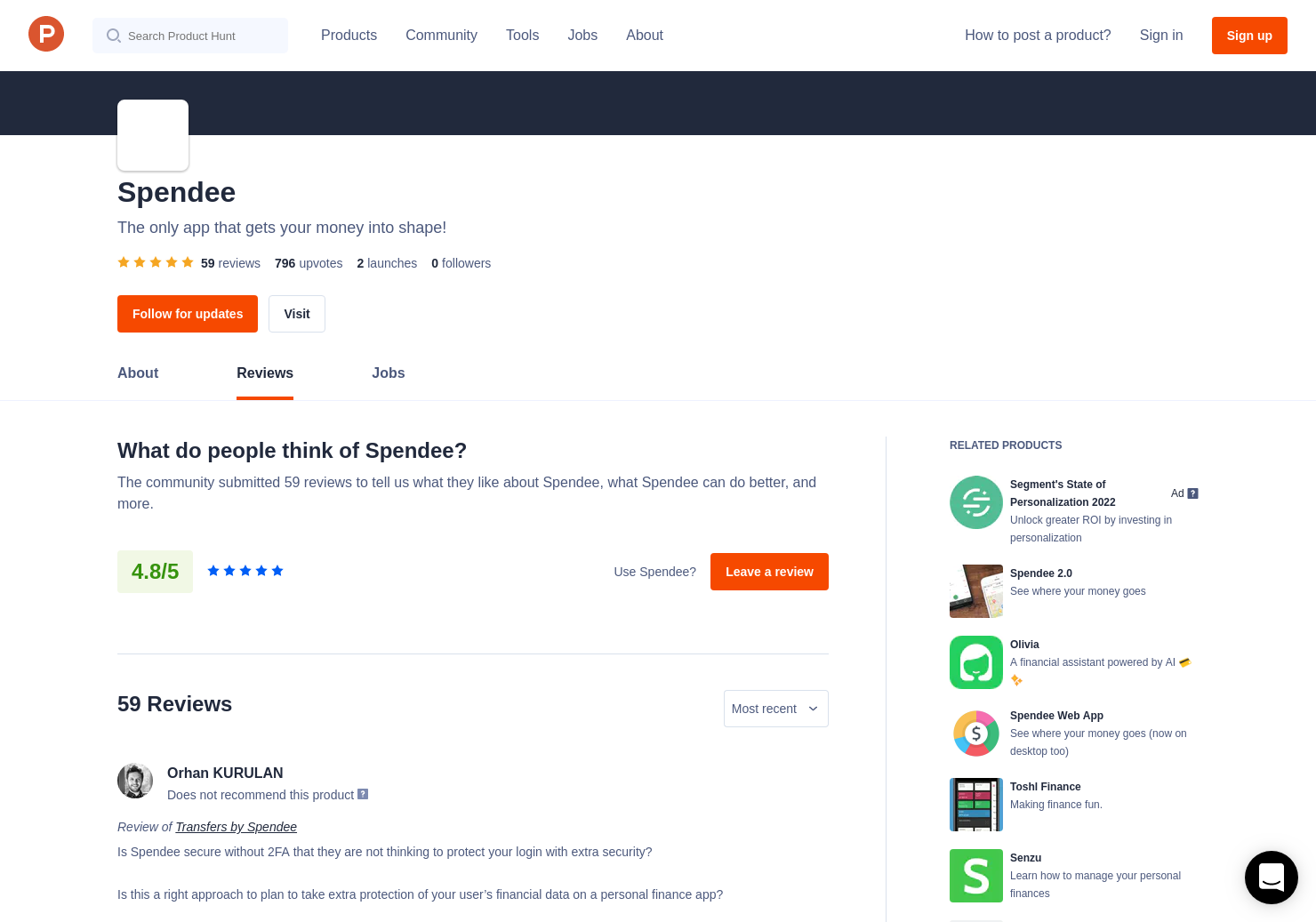 43 Spendee Web App Reviews - Pros, Cons and Rating | Product Hunt