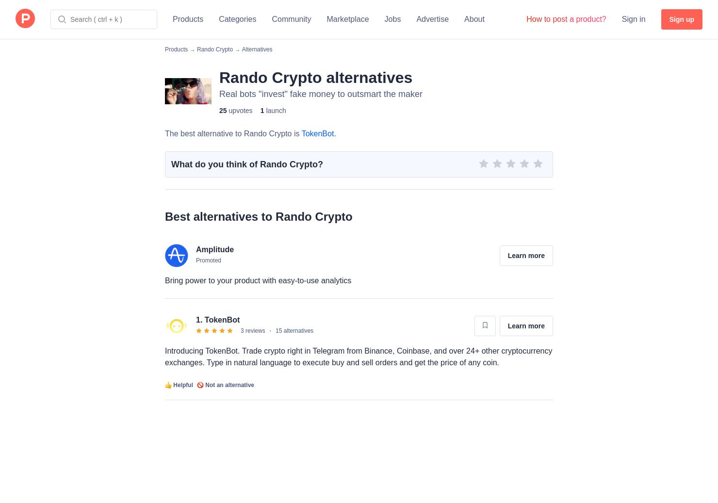 10 Alternatives to Rando Crypto | Product Hunt