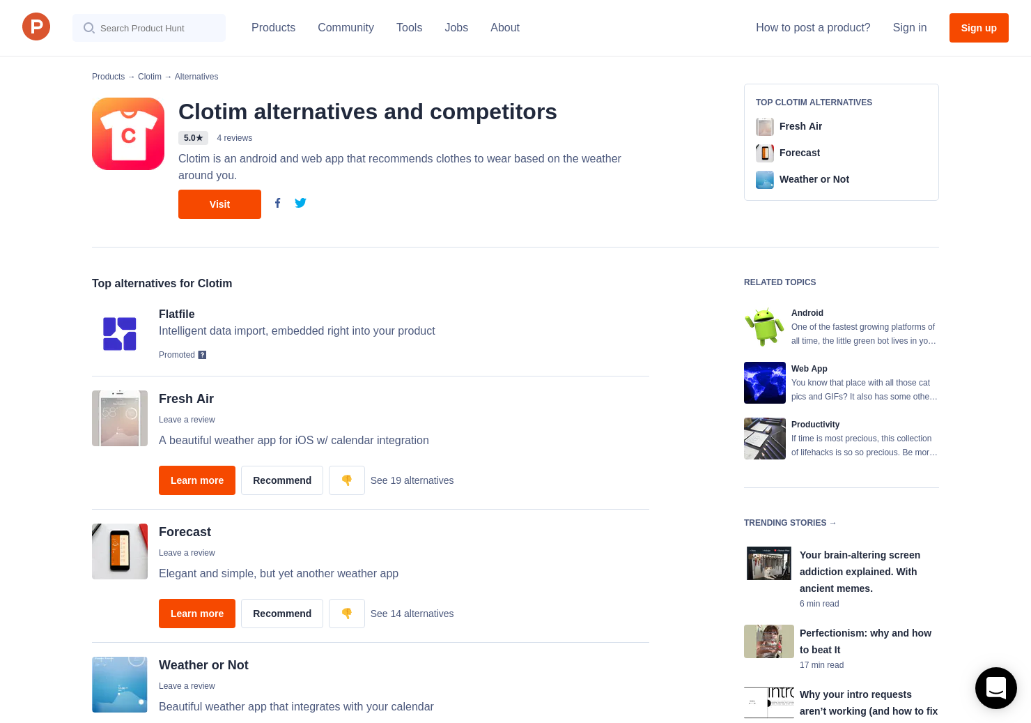 9 Alternatives to Clotim for Android | Product Hunt
