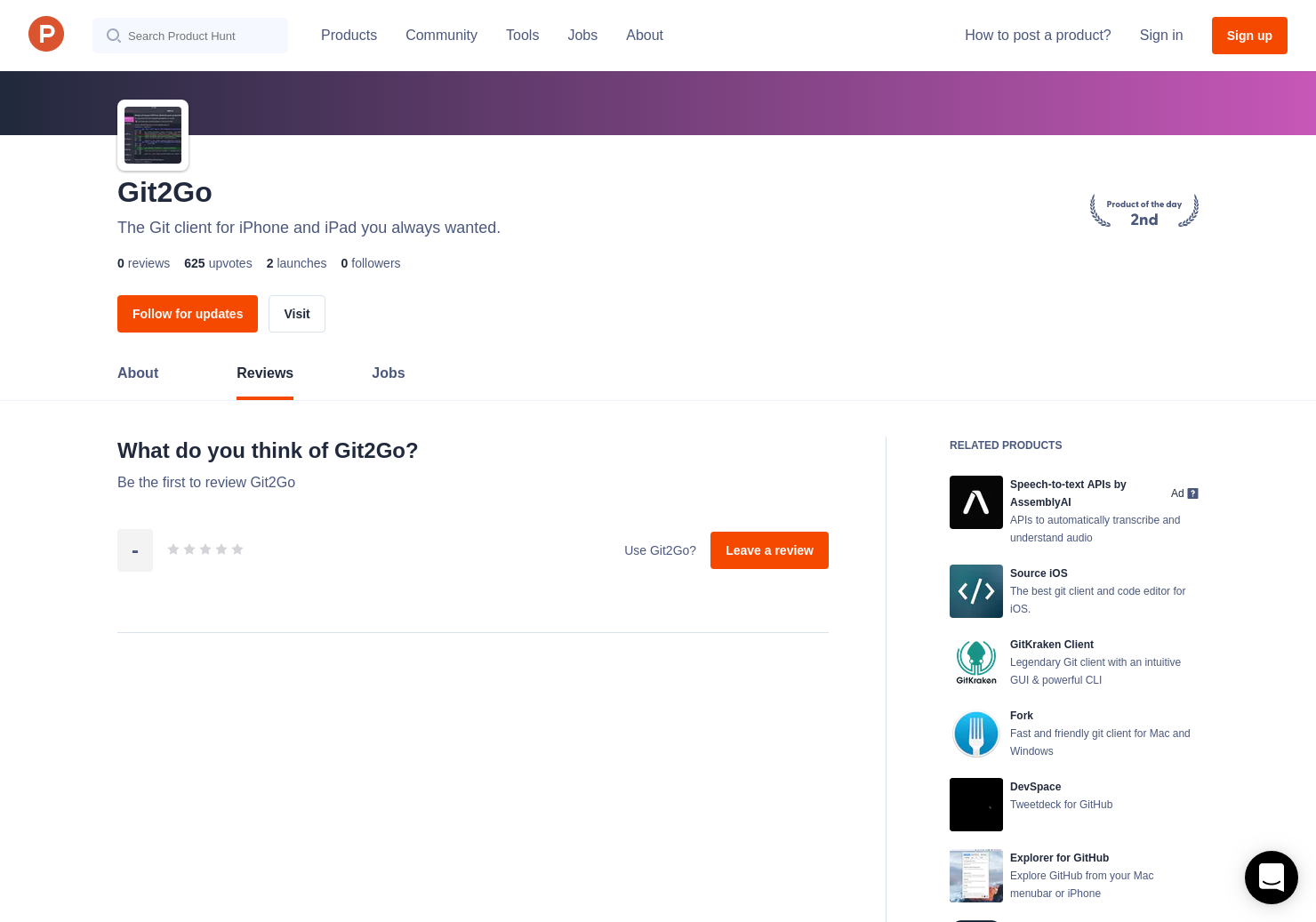 Git2Go Reviews - Pros, Cons and Rating | Product Hunt