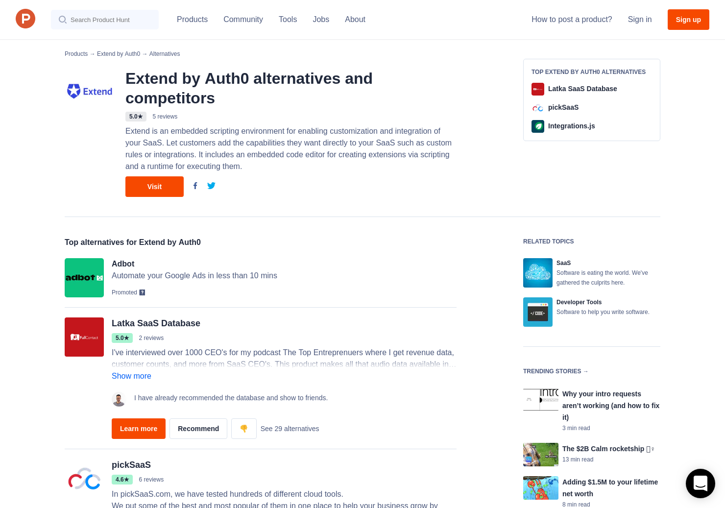 7 Alternatives to Extend by Auth0   Product Hunt