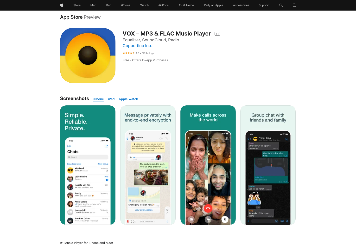 VOX Music Player for iPad