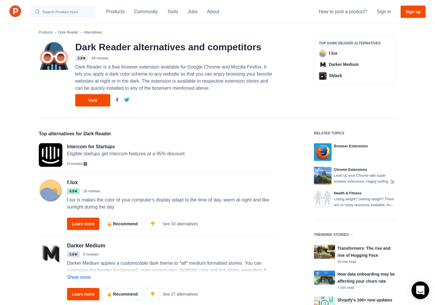 16 Alternatives to Dark Reader for Safari for Mac | Product Hunt