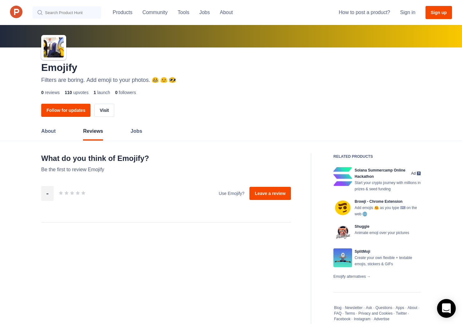 Emojify Reviews - Pros, Cons and Rating   Product Hunt