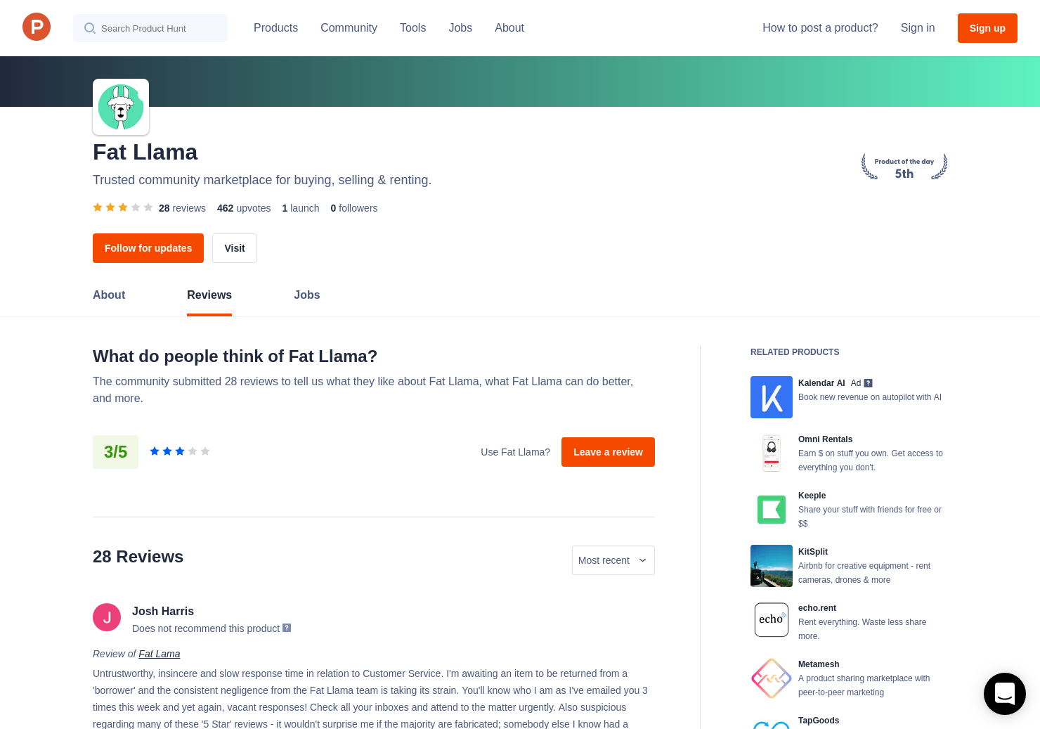 16 Fat Lama Reviews - Pros, Cons and Rating | Product Hunt