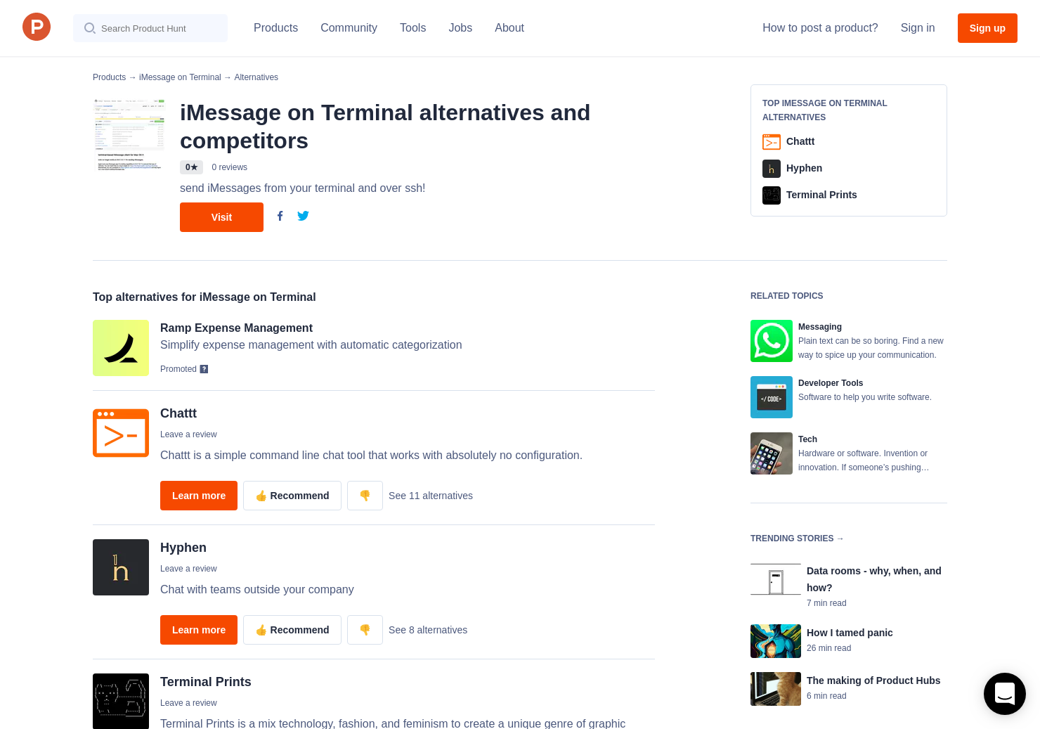 4 Alternatives to iMessage on Terminal | Product Hunt