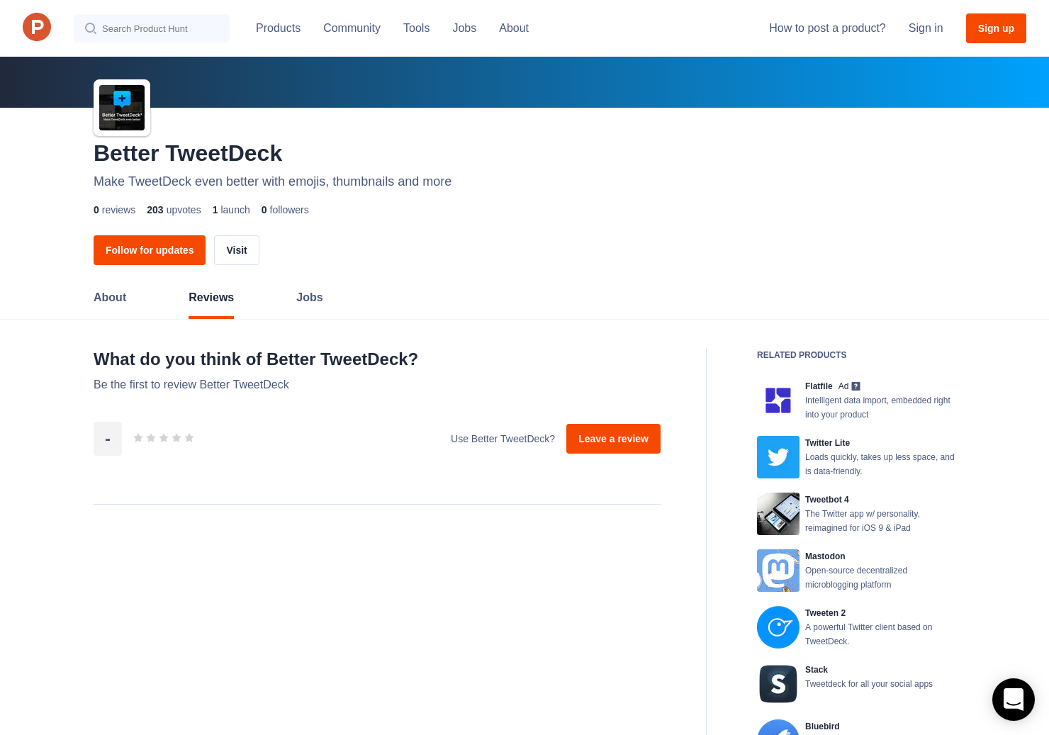 Better TweetDeck Reviews - Pros, Cons and Rating | Product Hunt