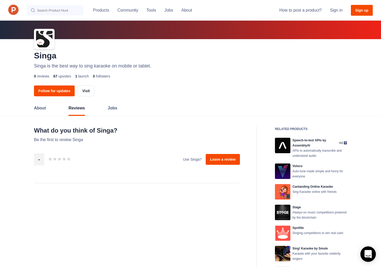Singa Reviews - Pros, Cons and Rating   Product Hunt