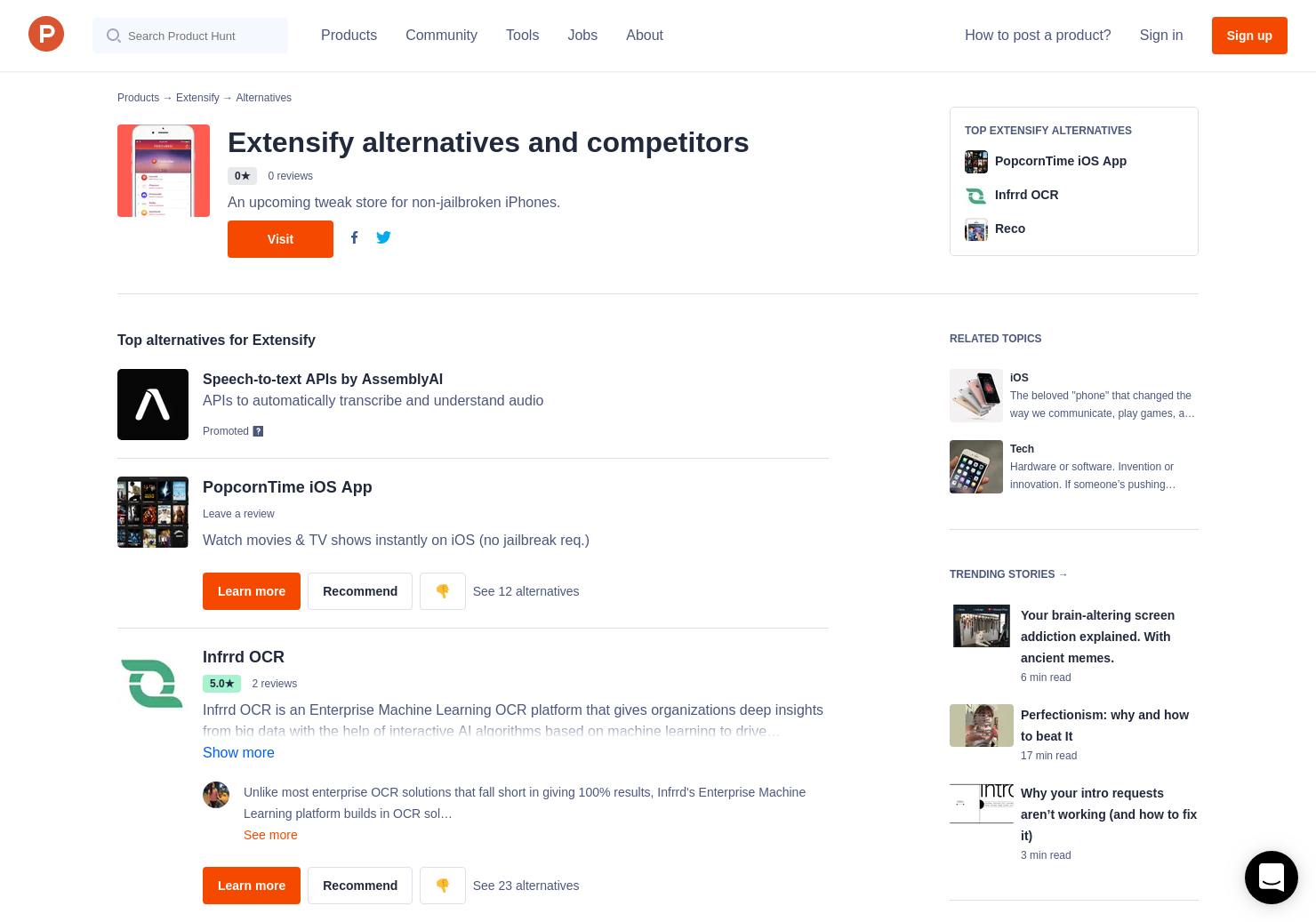 4 Alternatives to Extensify for iPhone   Product Hunt