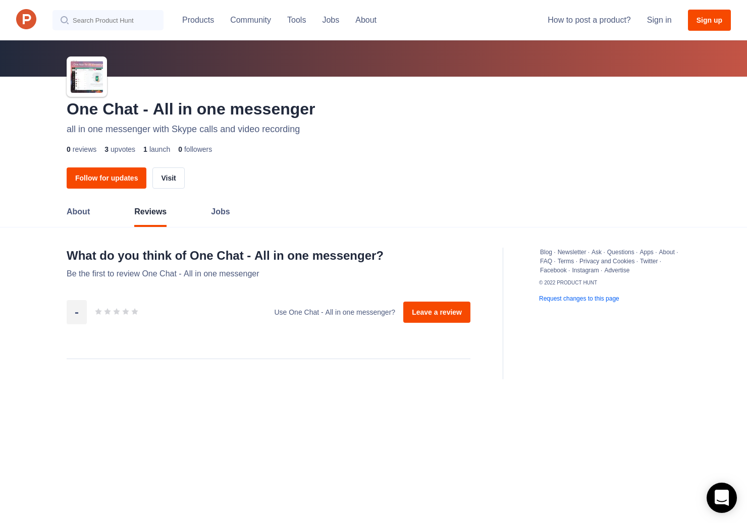 One Chat - All in one messenger Reviews - Pros, Cons and