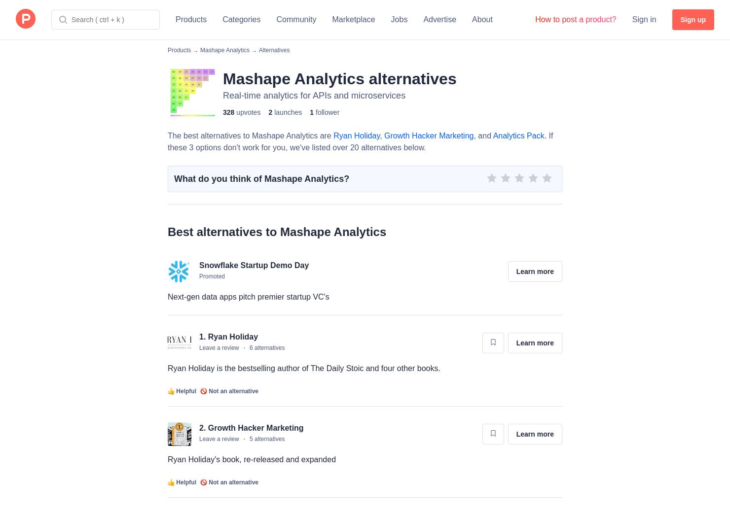 7 Alternatives to Mashape Analytics | Product Hunt